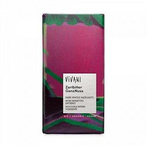 Темный шоколад с цельными лесными орехами Vivani