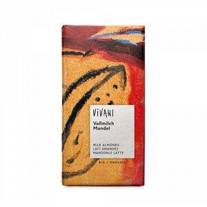Молочный шоколад с миндалем Vivani