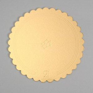 Подложка усиленная, волна, 28 см, золото-черный, 3,2 мм