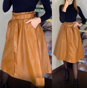 Замечательная кожаная юбка