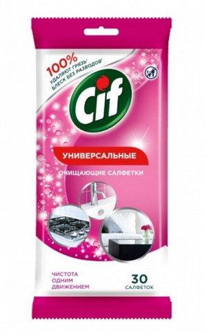 Влажные салфетки CIF 30 шт Универсальные