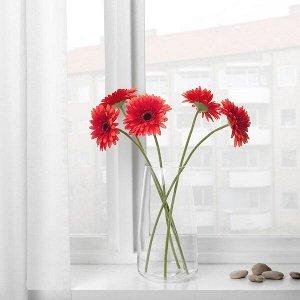 СМИККА Цветок искусственный, Гербера, красный, 50 см