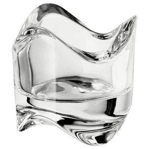 Подсвечник для греющей свечи, прозрачное стекло, 6 см