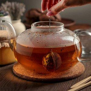 Ситечко для чая Доляна «Ёлочка», 4,5 см, на цепочке