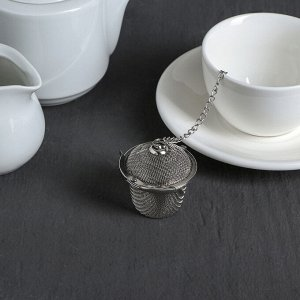 Ситечко для чая Доляна «Корзиночка», на цепочке
