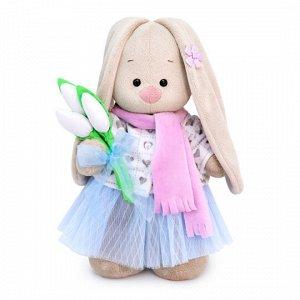 Зайка Ми с белыми тюльпанами (малый) мягкая игрушка