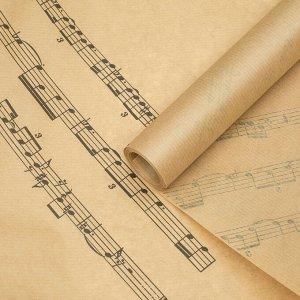 """Бумага упаковочная крафт """"Мелодия души"""", 0,6 х 10 м, 40 г/м?"""