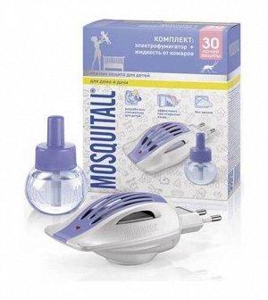 Комплект MOSQUITALL Нежная защита д/детей Электрофумигатор+Жидкость 30 ночей