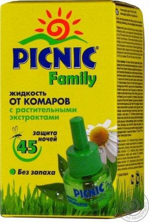 Жикость PICNIC FAMILY Комары 45 ночей 30мл