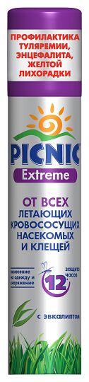 Спрей PICNIC Extreme от летающих насекомых и клещей 100см3