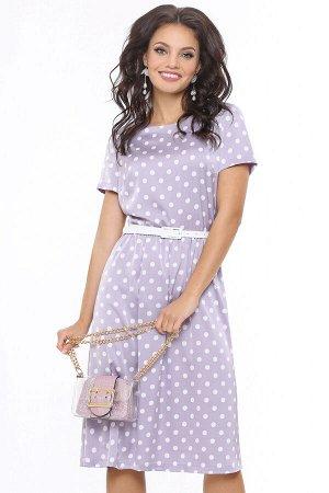 Платье Красотка лаванда, с ремешком