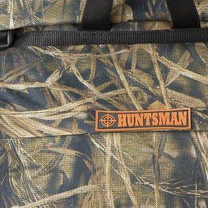 Рюкзак туристический, отдел на стяжке шнурком, 3 наружных кармана, цвет зелёный/коричневый