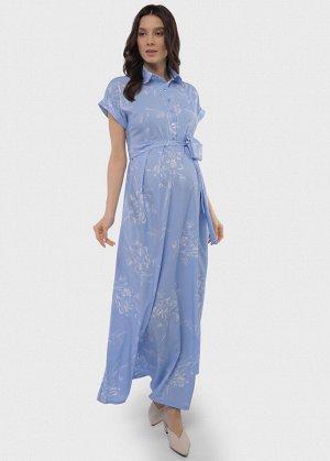 """Платье """"Аламанни"""" для беременных и кормящих голубое"""