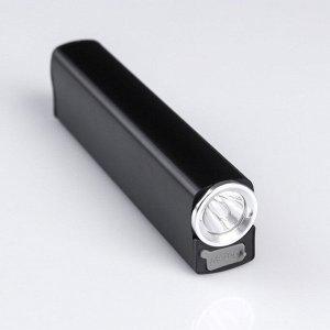 Фонарь-зажигалка аккумуляторный, 5 Вт, 3 режима, 2 ч автономной работы, 13х3.2х2.2 см. микс