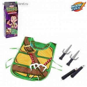 Игровой набор для мальчиков «Ниндзя»: жилетка, нунчаки, клинки
