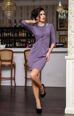 Платье Цвет ближе к серо-синему. Состав: тиар-масло (80% полиэстер, 20% котон)