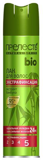 NEW Лак д/волос ПРЕЛЕСТЬ БИО ЭФ с экстрактом бамбука 250см3