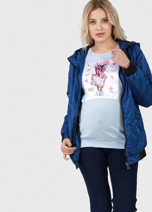 """Куртка демис 2в1 """"Орландо"""" для беременных; цвет: сапфировый"""