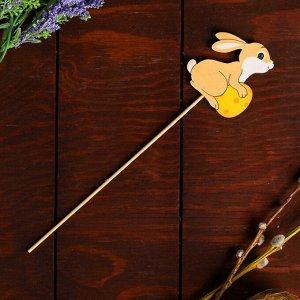Декор на палочке «Пасхальный зайчик» 0,3?5,5?26 см