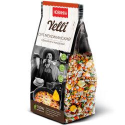 Суп мексиканский с фасолью и кукурузой Yelli, 120 гр