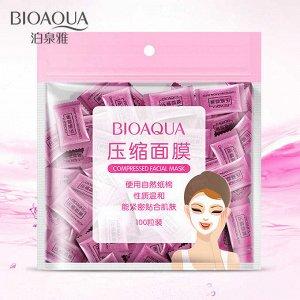BIOAQUA Compressed Facial Mask Прессованная маска-салфетка для лица, 100г/100шт