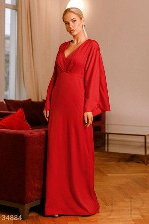 Платье-макси красного цвета