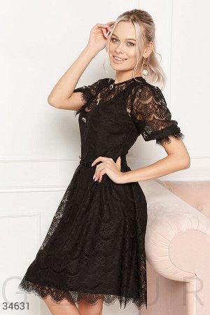Кружевное платье-двойка