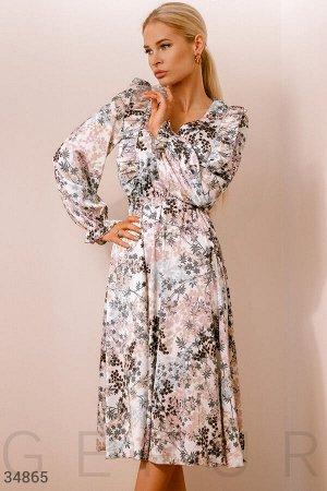 Платье с цветочной россыпью