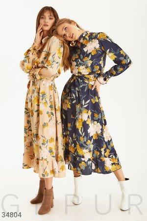 Платье в флористический узор