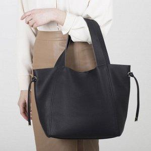 Сумка женская, отдел на магните, наружный карман, цвет чёрный