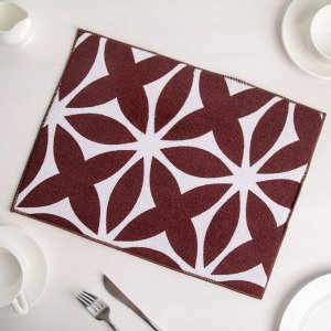Салфетка для сушки посуды Доляна «Призма», 30?40 см, микрофибра, цвет коричневый
