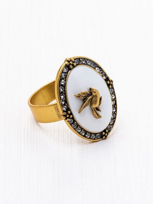 60031190 Кольцо Roman de la Rose -Бижутерия Selena