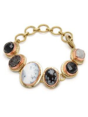 40068960 Браслет Pietra di Passione крупный браслет выполнен из натуральных камней -Бижутерия Selena