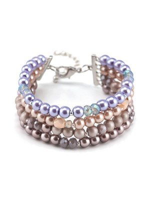 40071070 Браслет Solo авторский браслет выполнен из жемчуга Majorca и хрустального стекла - Бижутерия Selena