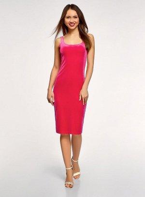 Платье-майка бархатное                    Розовый