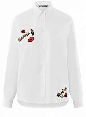 Рубашка свободного силуэта с декором Oodji