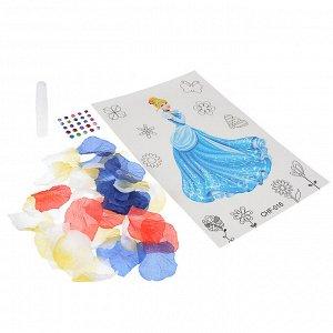 ХОББИХИТ Аппликация лепестками и стразами, пластик, полиэстер, картон, 17,5х32см