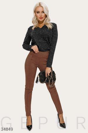 Замшевые коричневые брюки