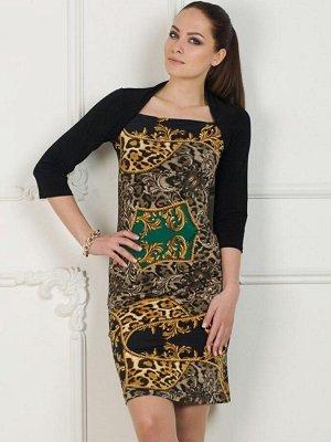 Платье Красивое платье с эффектом болеро. Рукав 3/4. Длинна 92 см. Размер с 42 по 48 (42-44,46-48). Рост модели 174 см. на ней платье 42-44 размера.. Состав вискоза 50% полиэстер 50%. Материал Трико