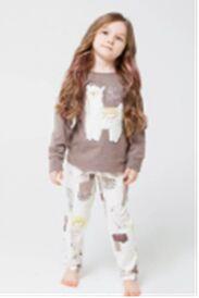 Мягкая, теплая пижамка с альпакой 🦙