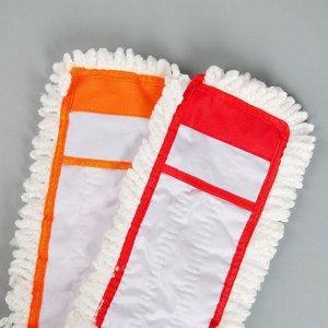 Насадка для плоской швабры Доляна, 40?12 см, микрофибра, цвет МИКС