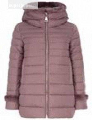 Женская текстильная куртка, искусственный пух