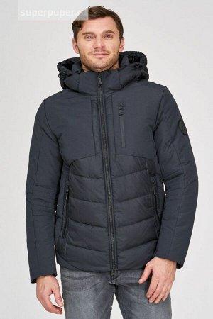 Мужская текстильная курткана натуральном пуху с отделкой из трикотажа