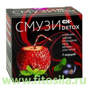 """СМУЗИ СК """"DETOX"""" клубника, черная смородина, мята, яблоко, клетчатка, 7 пакетиков х 12 г"""
