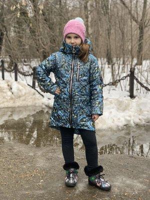 Пальто демисезонное для девочек (Ткань верха плащевая, утеплитель Сиберия 200, подкладка х/б+п/э, по л/талии кулиска, внутренний