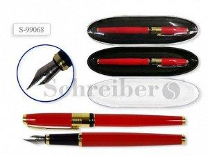 Пластиковый футляр с прозрачной крышкой, 17х4,5см, + металлическая перьевая ручка AN 2274