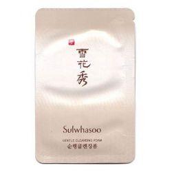 Sulwhasoo Gentle Cleansing Foam нежная пенка для умывания с экстрактом каштана 5мл(пробник)