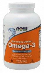 Омега 3 (Рыбий жир) NOW Omega-3 1000 мг - 500 капсул