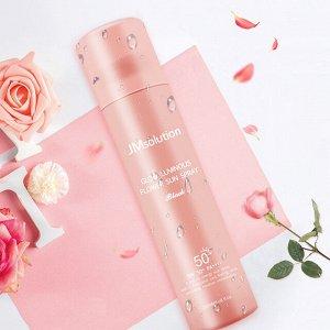 JMsolution Glow Luminous Flower Sun Spray Rose Солнцезащитный спрей для лица, роза 180мл
