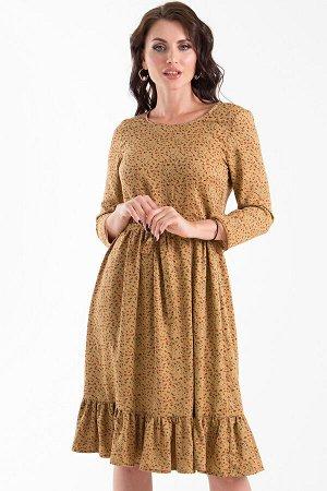 Платье Прованс (карамель, цветочек) П1284-11